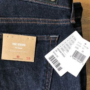 AG Stevie Slim Straight Dark Wash Jean